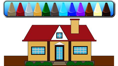 house shape learn colors and shapes color the house house made of shapes youtube