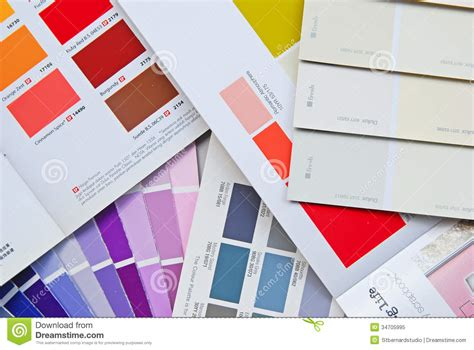 color fan chart book catalog and card for house paint editorial image image 34705995