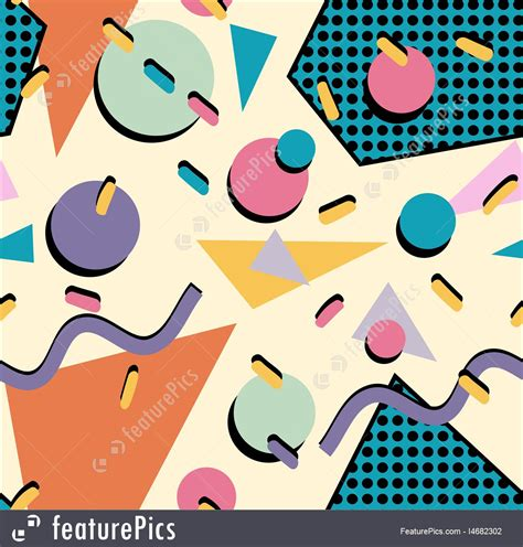 Logo Design Online Software Free abstract patterns retro 80s seamless pattern background