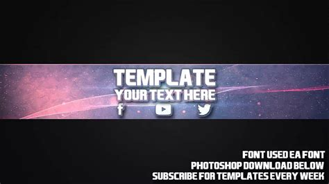 photoshop template youtube channel art cool channel art template 18 free photoshop download