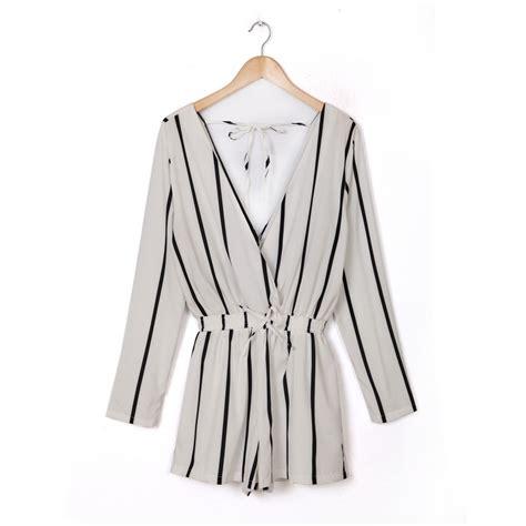 Kualitas Terbaik Baju Jumpsuit Wanita Rompers V Neck Size M 1 lengan panjang celana baju monyet promotion shop for