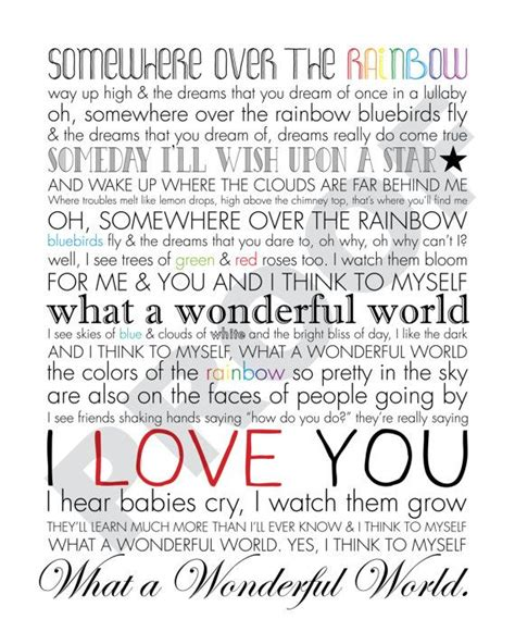 the song from somewhere iz somewhere over the rainbow what a wonderful world printable song lyrics artwork white