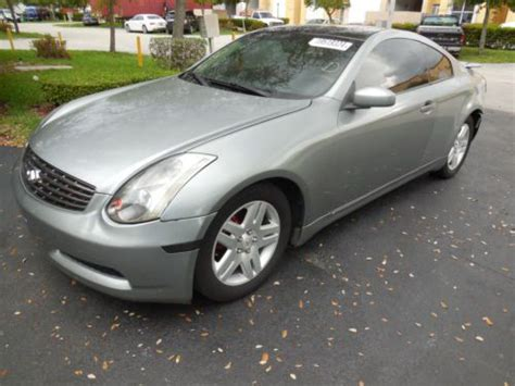 infiniti g35 stats find used 2003 infiniti g35 coupe salvaged wrecked for