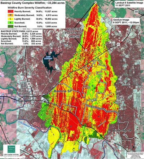 texas wildfire map tpwd sept 4 2011 bastrop wildfire