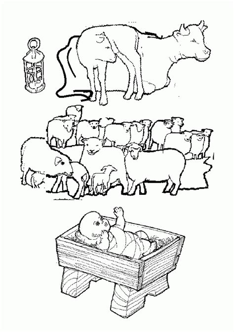 nativity scene animals coloring pages manger animals coloring pages coloring home