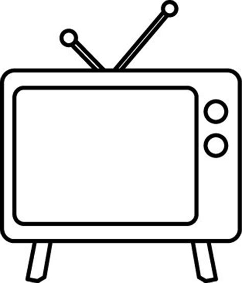 17 Best Images About Clip Art Misc On Pinterest Toilets Television Coloring Page