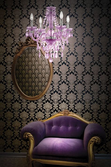 Purple Mini Chandelier Of A Bachelorette Purple Pinterest