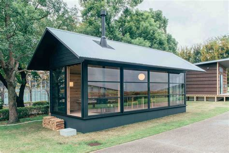 muji unveils three tiny prefab houses yellowtrace