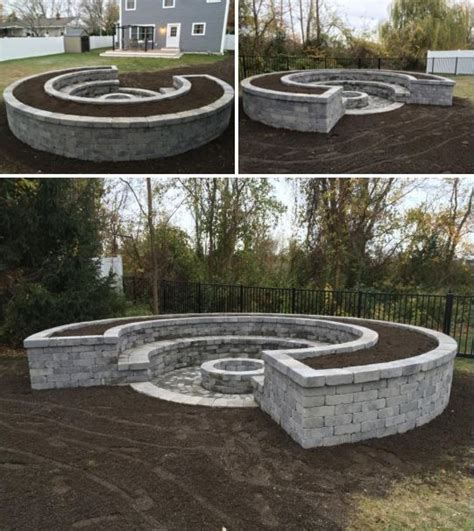 fire pit bench seating custom fire pit with bench seating and raised planter