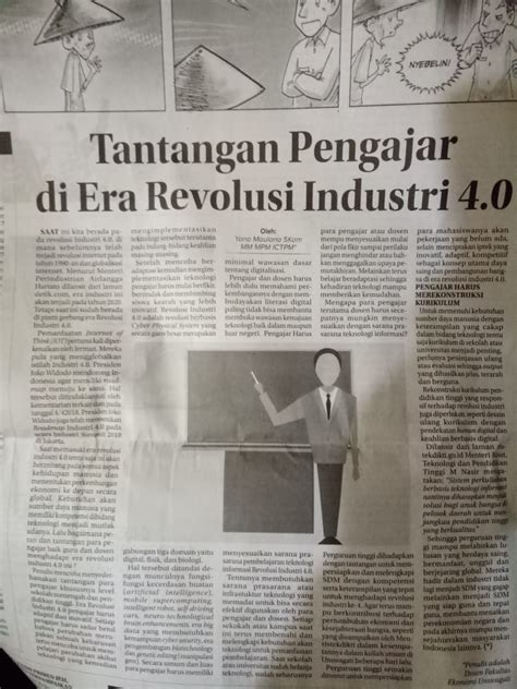 tantangan  pengajar  era revolusi industri