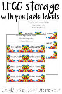Organizing Kitchen Drawers lego storage with printable labels