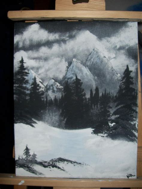 bob ross painting on black painted this from a bob ross bob ross