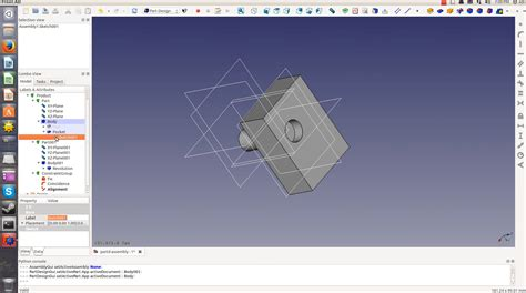 ubuntu assembly tutorial freecad tutorial how to test the assembly module updated