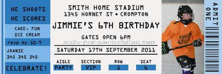free printable sports tickets how to make ticket invitations for birthday parties