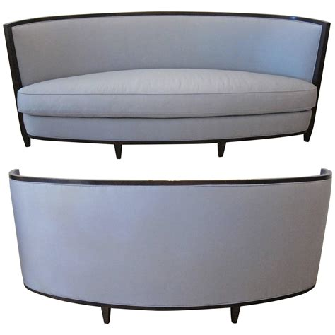 crescent sofa pair of crescent moon sofas by andree putman at 1stdibs