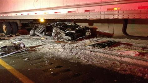 gory car accident victims car wreck victims survive being crushed by semi video