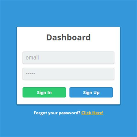 simple login form template image gallery html log in