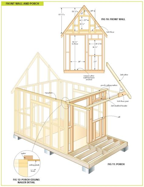 Wood Cabin Plans | completely free 108 sq ft cottage wood cabin plans