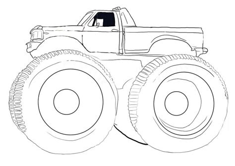 bigfoot monster truck coloring pages monster jam coloring page coloring home