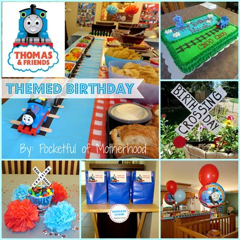 themes for birthday pictures thomas and friends themed birthday party pocketful of