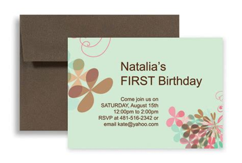 1st birthday card template word unique design for 1st microsoft word birthday invitation