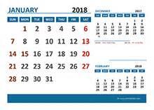 Calendar 2018 Desk With Holidays 2018 Excel Calendar Template Free Printable