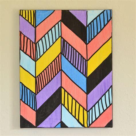 Paint My Bedroom Ideas easy geo canvas art tutorial dream a little bigger