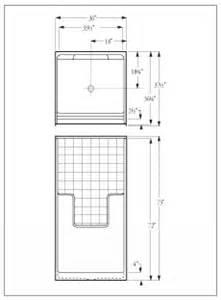 florestone model 36 3w fiberglass shower