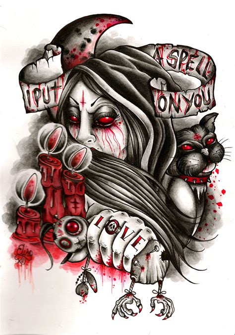 voodoo tattoo designs voodoo design quot lovespell quot by elisa devihate