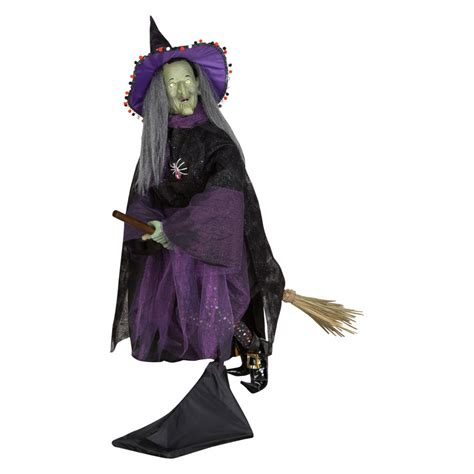 Kmart Furniture Kitchen shop gemmy lifesize witch on broom with microphone at