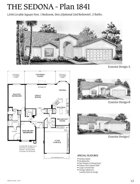 Villas Of Sedona Floor Plan by Saddlebrooke House Finder Floorplans