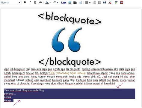 cara membuat quotes cara membuat blockquote pada blog loveheaven07