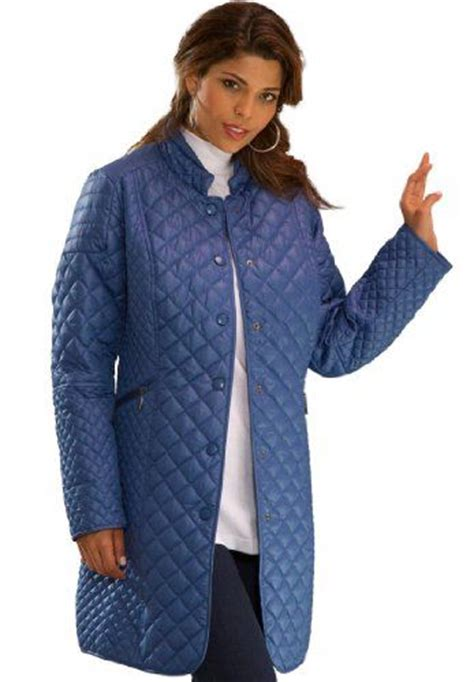 Quilted Plus Size Coats by Roamans S Plus Size Quilted Coat Jean Jacket For