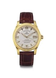 Omega Client Edition omega a limited edition 18k gold automatic wristwatch with sweep center seconds and date