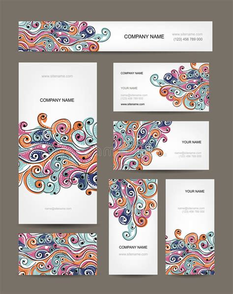 edit foto online image collections card design and card business cards collection abstract waves design stock