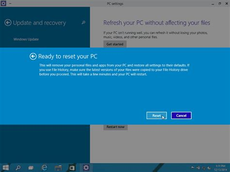 windows keeps resetting how to factory reset windows 10