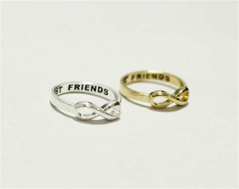 best friend infinity ring in gold silver zizibejewelry