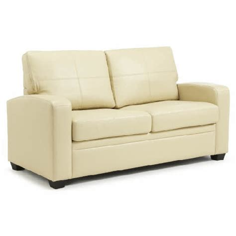 cream sofa bed catalina modern sofa bed in cream faux leather 25867