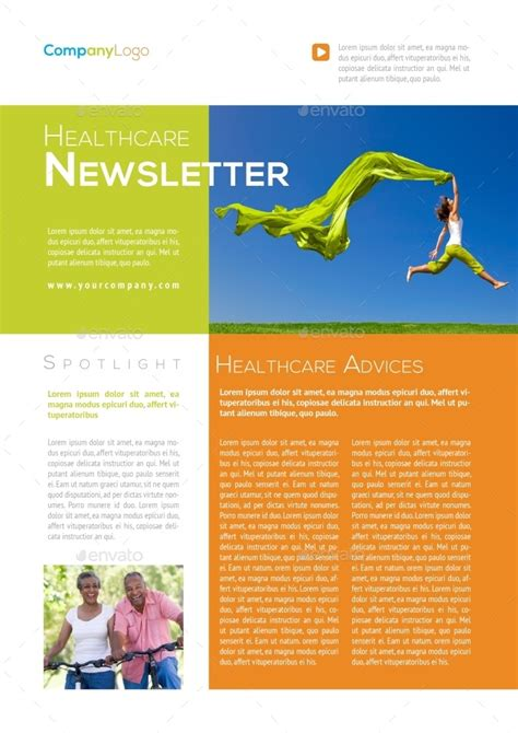 healthcare newsletter template by carlos fernando