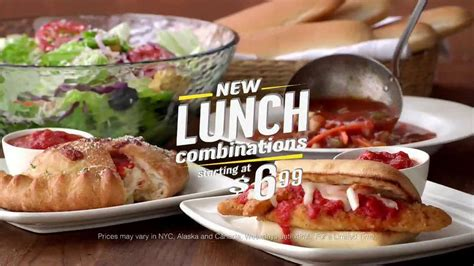 olive garden 7 dollar lunch olive garden lunch combination tv spot lunch block ispot tv