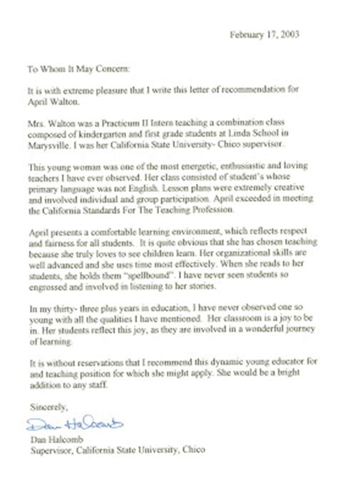 Recommendation Letter For Student With Autism Letters Of Recommendation For The Teachers At The Learning Garden Preschool