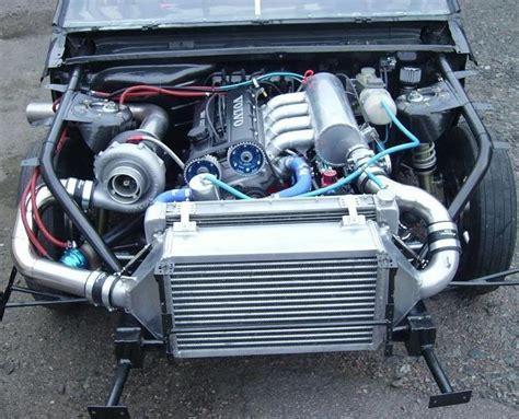 big volvo 940 dragster with big turbo and big intercooler volvo