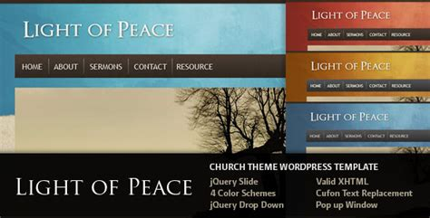 20 wordpress themes for churches and non profit