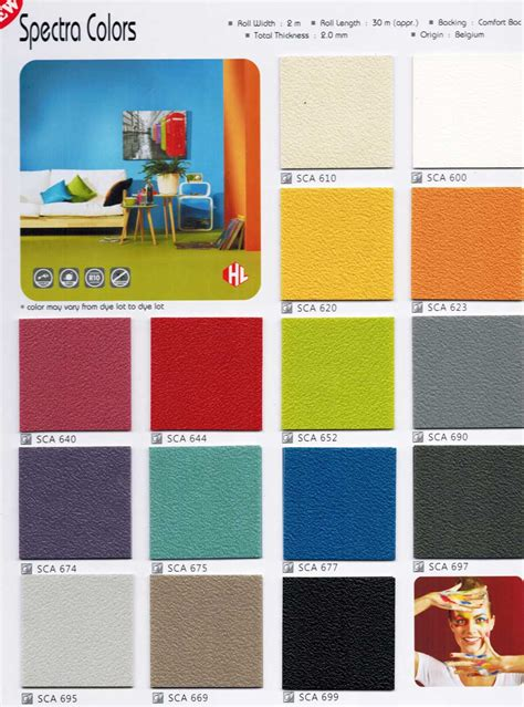 Spectra Colors (Belgium) multi color Sheet Vinyl Flooring