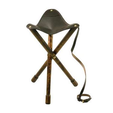 shooting three legged wood seat stool 65cm ebay