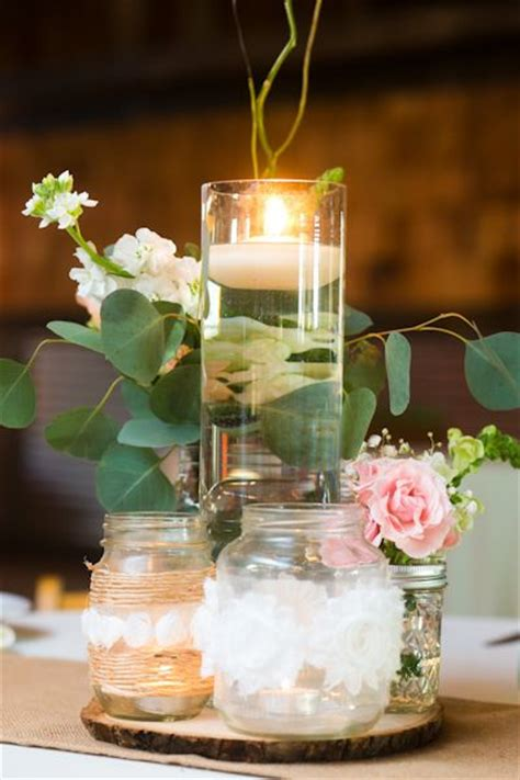creative centerpieces photo via pink brown wedding and centre pieces