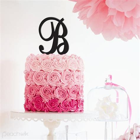 Wedding Cake Letter Toppers by Letter Cake Topper Initials Cake Topper Wedding Cake