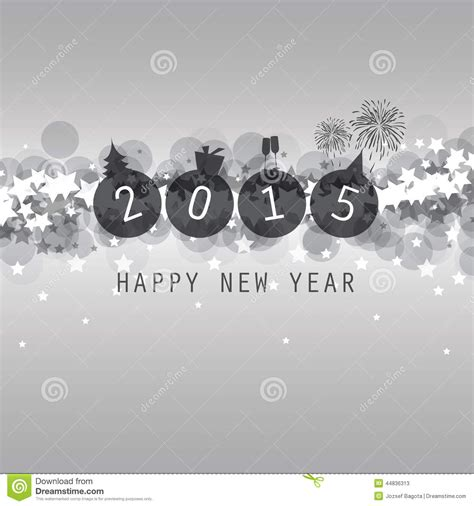 new year card cover or background template 2015 stock