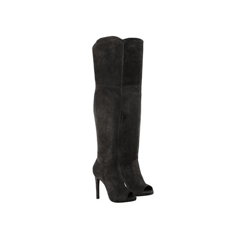 peep toe high heel boots mocha brown suede knee peep toe stiletto high heel