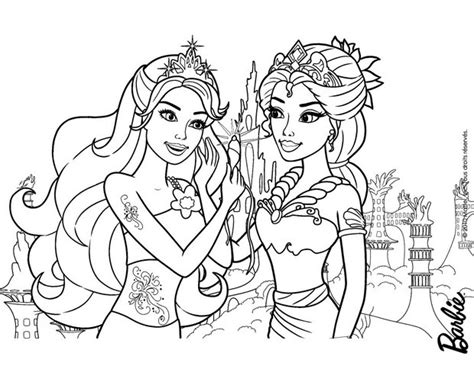 beautiful mermaids mom and daughter barbie coloring pages